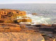 Costa del parque nacional del Acadia fotos de archivo