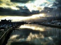 Costa del puerto deportivo foto de archivo libre de regalías