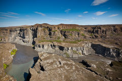 Costa del río islandés Jokulsa un Fjollum Fotografía de archivo libre de regalías