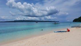 Costa del ` s di Boracay in tempo nuvoloso fotografie stock