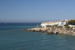 Costa del Sol. Sea view of Nerja at Costa del Sol stock photos