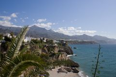 Costa Del Sol Coastline Stockfoto