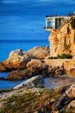 Costa del Sol i Nerja på soluppgång royaltyfri foto