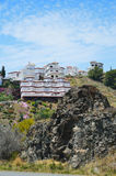 Costa del Sol. Modern tiny white village has been built on the hill of the Costa del Sol royalty free stock photo