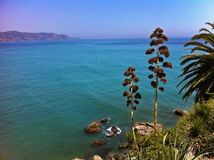 Costa Del Sol, plage de l'Espagne - de Nerja photographie stock