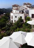 Costa del Sol. Residence & holiday sunshades Stock Photography
