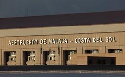 Costa del Solenoid flygplats i Malaga Royaltyfri Foto