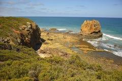 Costa del sud dell'oceano nell'entrata di Aireys Immagine Stock