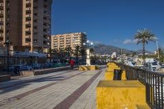 Costa Del Zol w zimie obraz stock