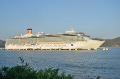 Costa Deliziosa Cruise ship at Amber Cove Stock Photo