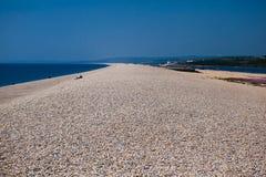 Spiaggia di Chesil, Dorset, Regno Unito fotografia stock
