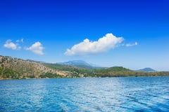 Costa dell'isola di Kefalonia Fotografie Stock Libere da Diritti