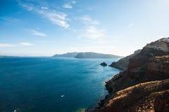 Costa dell'isola di Santorini Fotografia Stock Libera da Diritti