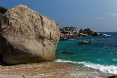 Costa dell'isola di Tao, Tailandia Fotografia Stock