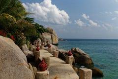 Costa dell'isola di Tao, Tailandia Fotografia Stock Libera da Diritti