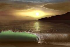 Costa dell'oceano Fotografie Stock Libere da Diritti