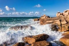 Costa dell'Oceano Atlantico in Bretagna Fotografie Stock Libere da Diritti