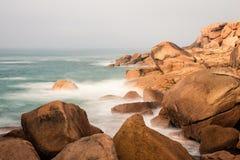 Costa dell'Oceano Atlantico in Bretagna Immagini Stock Libere da Diritti