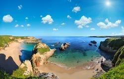Costa dell'Oceano Atlantico, Spagna Fotografia Stock Libera da Diritti