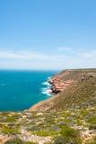Costa dell'oceano di Kalbarri di vista aerea Immagini Stock Libere da Diritti