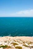 Costa dell'oceano di Kalbarri di vista aerea Fotografia Stock Libera da Diritti