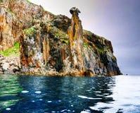 Costa dell'oceano Pacifico - paesaggio giapponese del mare Immagini Stock Libere da Diritti