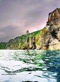 Costa dell'oceano Pacifico - paesaggio giapponese del mare Immagine Stock Libera da Diritti