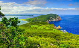 Costa dell'oceano Pacifico - paesaggio giapponese del mare Fotografia Stock