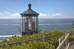 Costa dell'Oregon del faro di Meares del capo Fotografie Stock Libere da Diritti