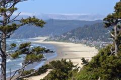 Costa dell'Oregon della spiaggia del cannone. fotografia stock