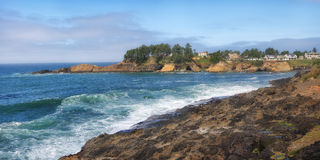 Costa dell'Oregon vicino a Lincoln City Oregon Fotografia Stock Libera da Diritti