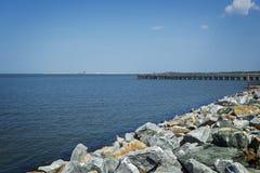 Costa della baia di Delaware Fotografia Stock Libera da Diritti