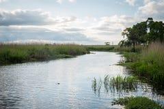 Costa della Luisiana al tramonto Fotografie Stock Libere da Diritti