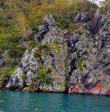 Costa della montagna del ` s di Kamchatka Immagine Stock