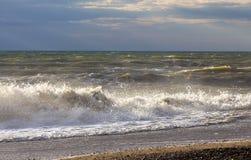 Costa della spiaggia della Crimea occidentale Immagini Stock