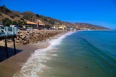 Costa della spiaggia di Malibu Fotografia Stock