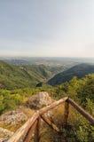 Costa della Toscana dalle alpi di Apuan Fotografia Stock Libera da Diritti