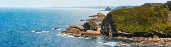 Costa delle Asturie della linea costiera di Cabo Vidio, Spagna Fotografia Stock