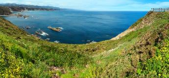 Costa delle Asturie della linea costiera di Vidio del capo, Spagna Fotografia Stock Libera da Diritti