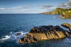Costa in Devon del nord Vicino alla città di Ilfracombe Fotografia Stock