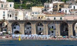 Costa di Amalfi, Atrani immagini stock