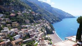 costa di Amalfi e spiagge sabbiose Fotografia Stock
