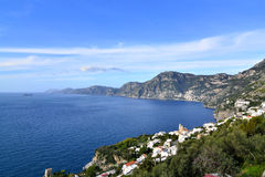 Costa di Amalfi - Praiano Fotografie Stock Libere da Diritti