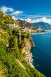 Costa di Amalfi - regione di campania, Italia immagine stock libera da diritti