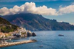 Costa di Amalfi - regione di campania, Italia fotografia stock libera da diritti