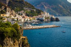 Costa di Amalfi - Salerno, campania, Italia, Europa fotografia stock