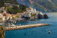 Costa di Amalfi - Salerno, campania, Italia, Europa fotografia stock libera da diritti