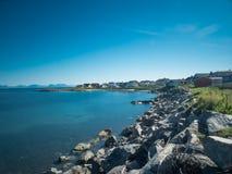 Costa di Andenes, Norvegia fotografia stock libera da diritti