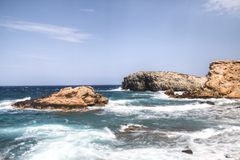Costa di Antiparos in Grecia Immagini Stock Libere da Diritti
