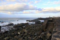 Costa di Bajamar Fotografia Stock